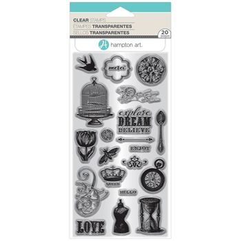 Hampton Art Clear Stamp VINTAGE ICONS sc0825