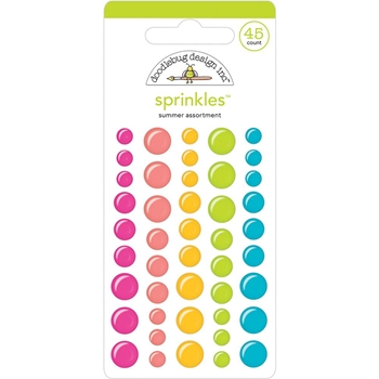 Doodlebug SWEET SUMMER Assortment Glossy Enamel Sprinkles 5831