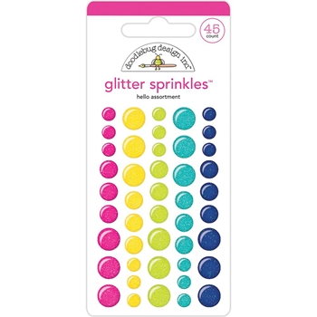 Doodlebug HELLO GLITTER Sprinkles Assortment Enamel Dots 5832
