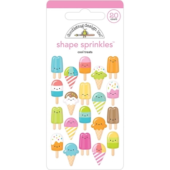 Doodlebug COOL TREATS Shape Sprinkles Sweet Summer 5841