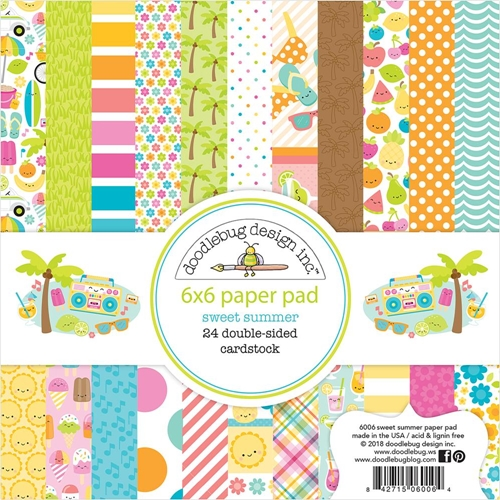 Doodlebug SWEET SUMMER 6x6 Inch Paper Pad 6006 Preview Image