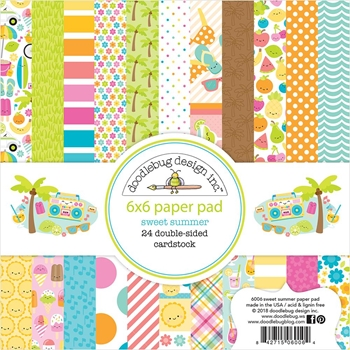 Doodlebug SWEET SUMMER 6x6 Inch Paper Pad 6006
