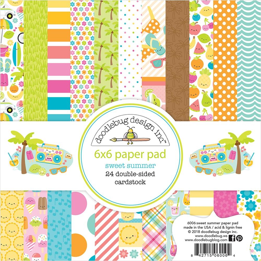 Doodlebug SWEET SUMMER 6x6 Inch Paper Pad 6006 zoom image