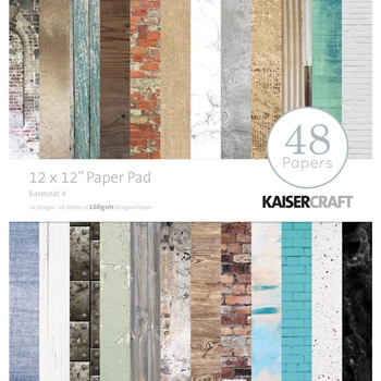 Kaisercraft BASECOAT 12x12 Inch Paper Pad PP242