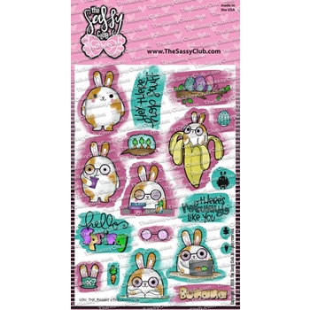 The Sassy Club LOU THE RABBIT Clear Stamps tscl134