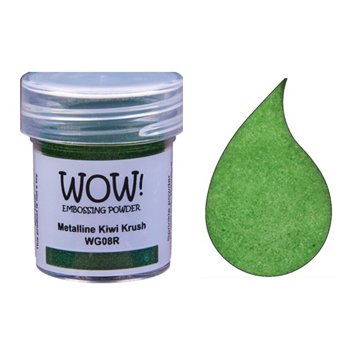 WOW Embossing Powder METALLINE KIWI KRUSH Regular WG08R