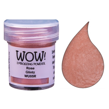 WOW Embossing Powder ROSE GLINTZ WU05R