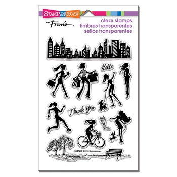 Stampendous Clear Stamps SASSY CITY ssc1279