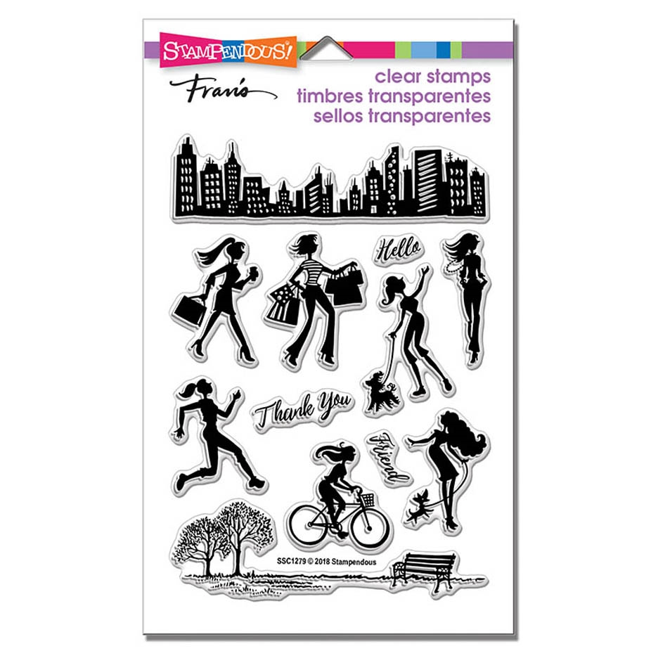 Stampendous Clear Stamps SASSY CITY ssc1279 zoom image