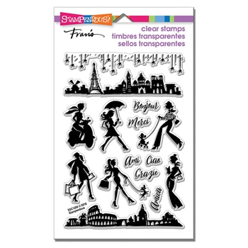 Stampendous Clear Stamps SASSY TRAVEL ssc1280