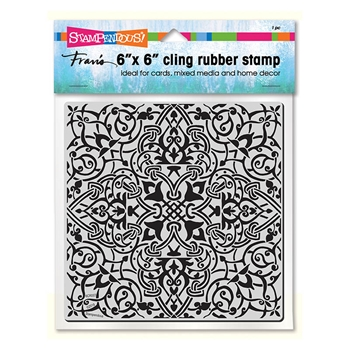 Stampendous Cling Stamp MOROCCAN TILE Rubber UM 6cr007
