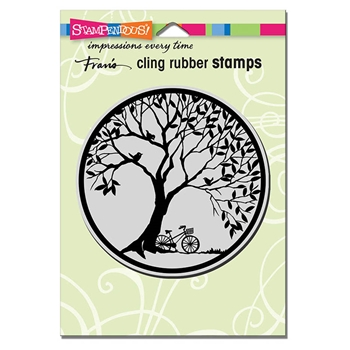 Stampendous Cling Stamp TREE CIRCLE Rubber UM crw201