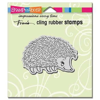 Stampendous Cling Stamp HAPPY HEDGEHOG Rubber UM crv339