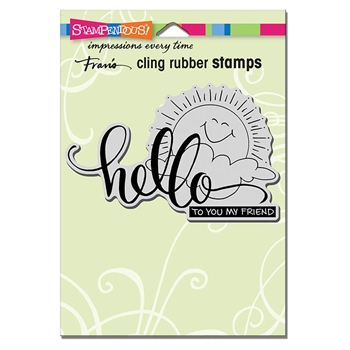 Stampendous Cling Stamp SUNNY HELLO Rubber UM crp320