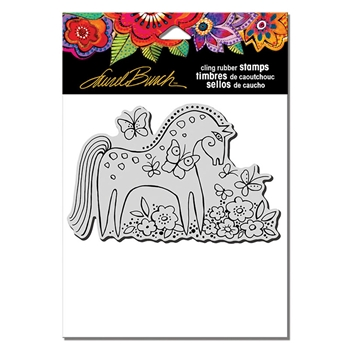 Stampendous Cling Stamp MYSTICAL MARE Rubber UM Laurel Burch lbcp013
