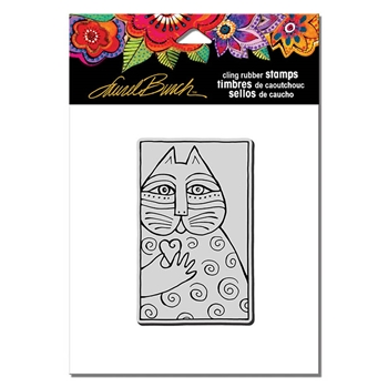 Stampendous Cling Stamp CAT LOVE Rubber UM Laurel Burch lbcm002