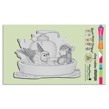 Stampendous Cling Stamp BIRD BATH Rubber UM hmcr120 House Mouse