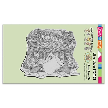 Stampendous Cling Stamp COFFEE BREAK Rubber UM hmcr114 House Mouse