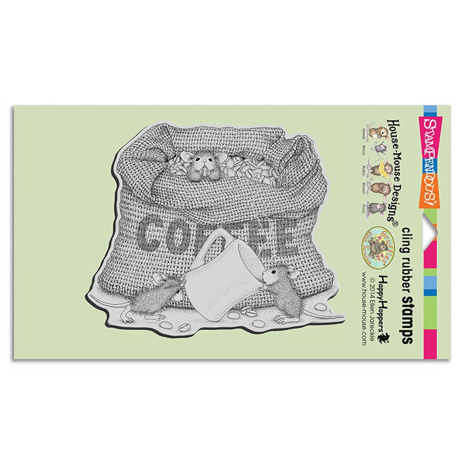 Stampendous Cling Stamp COFFEE BREAK Rubber UM hmcr114 House Mouse zoom image