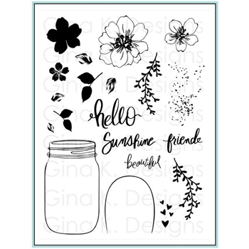 Gina K Designs HELLO BEAUTIFUL Clear Stamps 4402