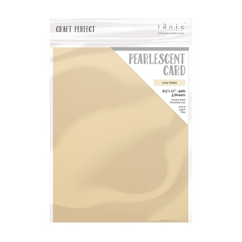 Tonic IVORY SHEEN Craft Perfect Pearlescent Cardstock 9542e