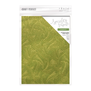 Tonic EVERGREEN FIR Luxury Embossed A4 Paper Pack 9878e