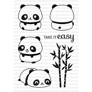 Clearly Besotted PANDA PERFECTION Clear Stamp Set