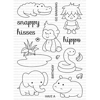 Clearly Besotted GO WILD AGAIN Clear Stamp Set
