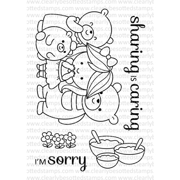 Clearly Besotted FAIRY TALE BEARS Clear Stamp Set
