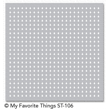 My Favorite Things MINI RAINDROPS Mix-ables Stencil MFT ST106