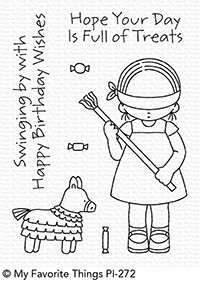 Pure Innocence BIRTHDAY PINATA Clear Stamps MFT PI272