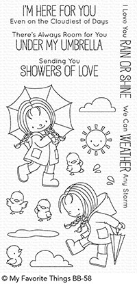 My Favorite Things RAIN OR SHINE Clear Stamps BB58 zoom image