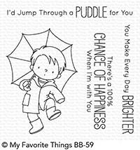 My Favorite Things PUDDLE JUMPER Clear Stamps BB59