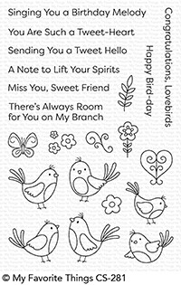 My Favorite Things A TWEET HELLO Clear Stamps CS281