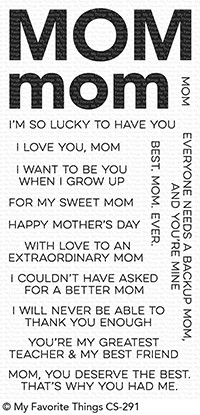 My Favorite Things ALL ABOUT MOM Clear Stamps CS291 zoom image