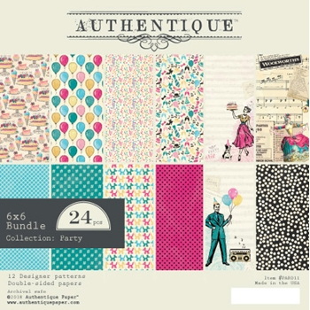 Authentique 6 x 6 PARTY Paper Pad par011
