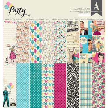 Authentique PARTY 12 x 12 Collection Kit par012