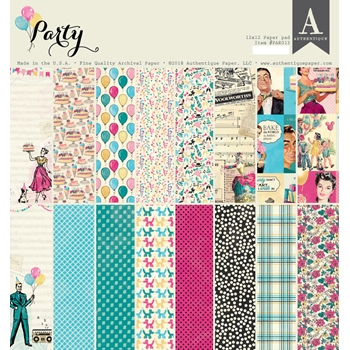 Authentique PARTY 12 x 12 Paper Pad par013