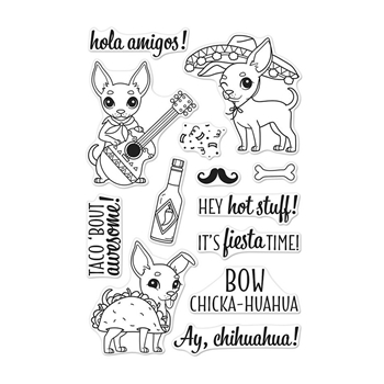 Hero Arts Clear Stamps IT'S FIESTA TIME CM252