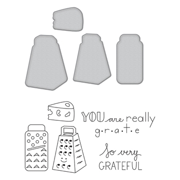 SDS-123 Spellbinders GRATEFUL Cling Stamp and Die Set The Perfect Match by Debi Adams