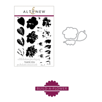 Altenew BUILD A FLOWER HIBISCUS Clear Stamp and Die Set ALT2208