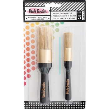 American Crafts Vicki Boutin STENCIL BRUSH SET All The Good Things Mixed Media 346450