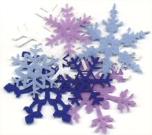 Hero Arts FELT SNOWFLAKES 24 Snowflake Embellishments CH162 Preview Image