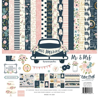 Echo Park JUST MARRIED 12 x 12 Collection Kit jm153016