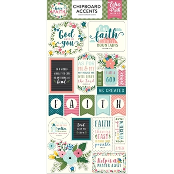 Echo Park HAVE FAITH Chipboard Accents haf152021
