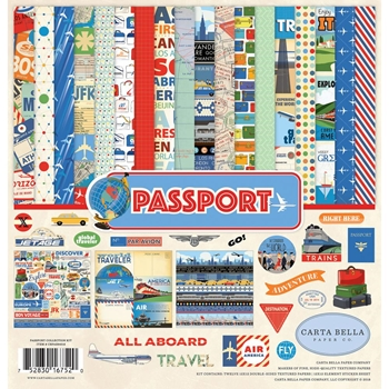 Carta Bella PASSPORT 12 x 12 Collection Kit cbpas84016