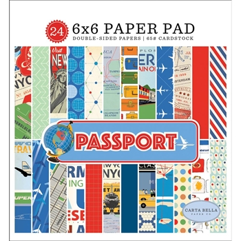 Carta Bella PASSPORT 6 x 6 Paper Pad cbpas84023