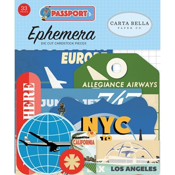 Carta Bella PASSPORT Ephemera cbpas84024