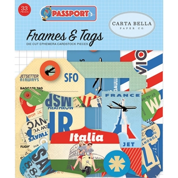 Carta Bella PASSPORT Ephemera cbpas84025