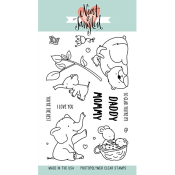Neat and Tangled MOMMY, DADDY, AND ME Clear Stamp Set NAT372